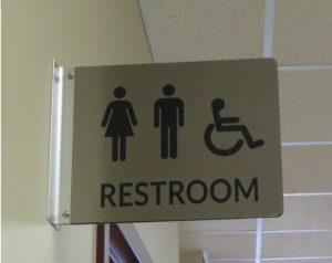 Restroom Sign - Blade Sign